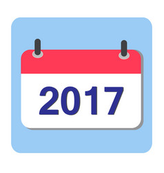 Flat calendar icon 2017 new year 2017 vector