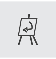 Flipchart icon vector image vector image