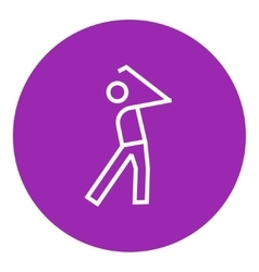 Golfer line icon vector