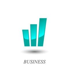 Growth chart logo vector