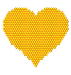 Honeycomb heart vector image vector image