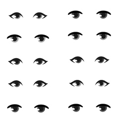 Human eye set vector
