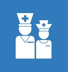 Icon nursing staff silhouette vector