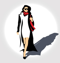 lady with handbag vector image