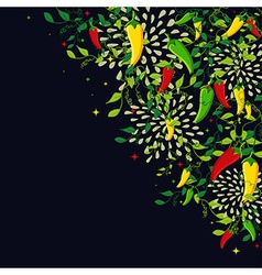 Mexican food background vector image