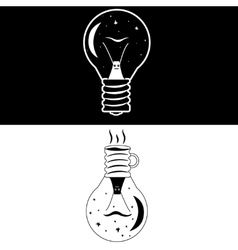 night lamp snail vector image vector image
