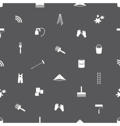 Paint icons seamless gray and white pattern eps10 vector