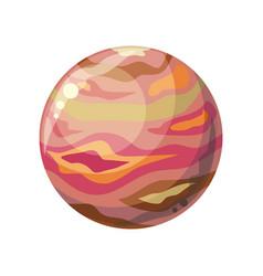 planet jupiter icon vector image
