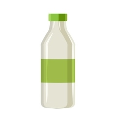 Plastic bottle for dairy foods icon cartoon style vector