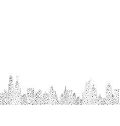 Polygon city vector
