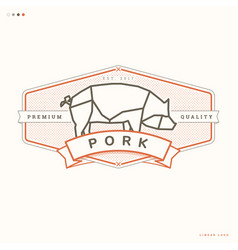 Pork linear logo vector