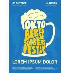 Poster for Oktoberfest Beer Festival vector image
