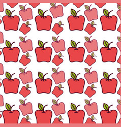 Red delicious apple healthy fruit background vector