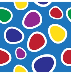 seamless - colored oval shapes vector image vector image