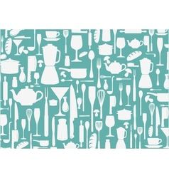 Seamless pattern with cooking icons background vector