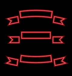 Set ribbons neon lights vector image vector image