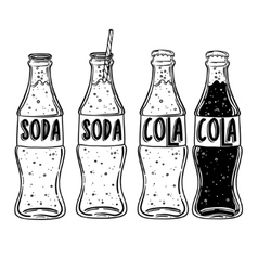 soda drawing Hand drawn soda vector image