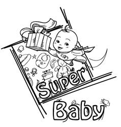 Super baby vector