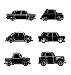 vintage car silhouette vector image
