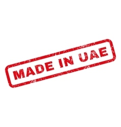 Made in uae rubber stamp vector