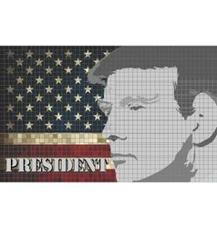 Donald trump president of the united states vector