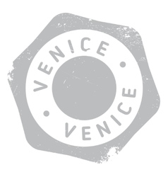 Venice stamp rubber grunge vector