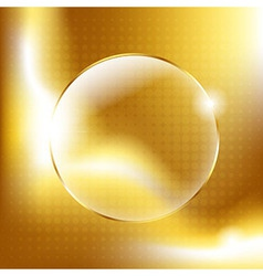 Gold Background With Gold Glass Balls vector image