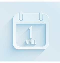 Calendar apps icon for 1 april fools day paper vector