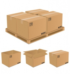 Set of cardboard boxes vector