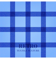 Retro textile background with blue stripes vector