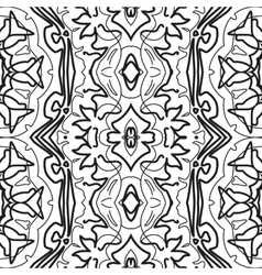 Abstract seamless outline pattern vector