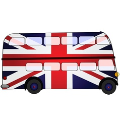 Union jack bus vector