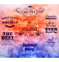 Elements for summer holidays vector