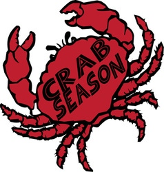 Crab season vector
