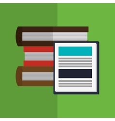 Books design learning icon colorfull vector