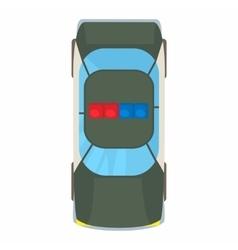 Police car top view icon cartoon style vector image