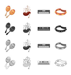 attributes concert holiday and other web icon in vector image vector image