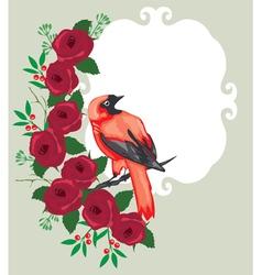 bird frame vector image vector image