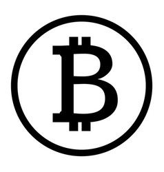 Bitcoin icon on white background flat style vector