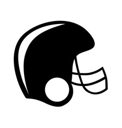 Black silhouette american football helmet vector