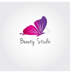 Butterfly design concept for beauty salon vector image vector image