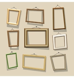 cartoon frames set vector image vector image