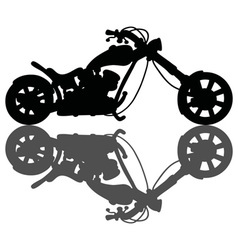 Chopper black silhouette vector image