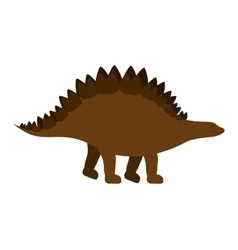 Colorful cartoon with dinosaur stegosaurus vector