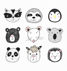 cute for card print on clothes vector image
