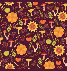 cute harves seamless pattern vector image vector image