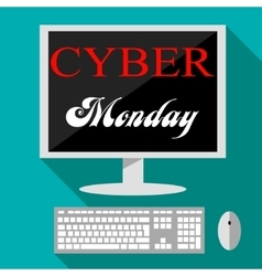 Cyber monday deals design vector
