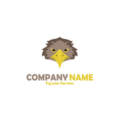 Eagle mascot logo vector