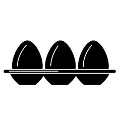 Egg container isolated icon vector