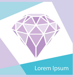 Geometrical purple diamond with frame background vector